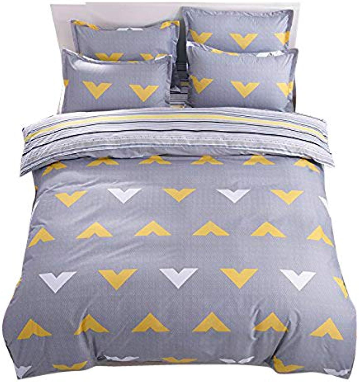 Kids Adults 4pcs Beddingset Duvet Cover Set No Comforter Duvet Cover Flat Sheet Pillowcases ZL Twin Full Queen Champs Natural Scenery Design (Queen, Speran, Green)