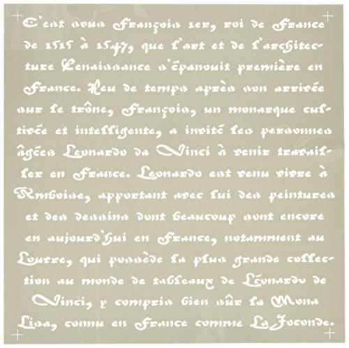 Deco Art Americana Decor Stencil, Old French Script