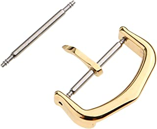 Dolity Stainless Steel Watch Band Strap Clasp Pin Buckle Replacement Gold12/16/18mm