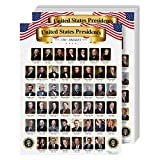 """United States of America President Poster – Pictures & Names of USA Presidents   for School & at Home Use   8.5 x 11""""   10 per Pack"""