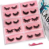 Labeh Mink Eyelashes 3D Mink Fur False Eyelashes Reusable Handmade Natural Lashes Fake Eyelashes Easy to Apply (10 different styles/package)