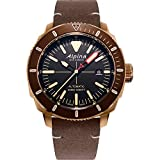 Alpina Men's Stainless Steel/Bronze PVD Swiss Automatic Sport Watch with Leather Strap, Brown, 22 (Model: AL-525LBBR4V4)