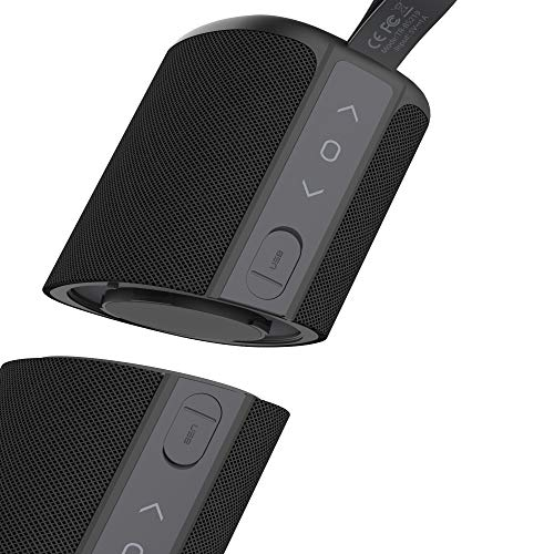 Bluetooth Speakers, Kove Commuter 2 - Portable, Wireless with HD Louder Volume, Deep Bass Subwoofer, Microphone, IPX7 Waterproof - Perfect Boom Box for Home, Outdoor or Travel, Gifts for Women and Men
