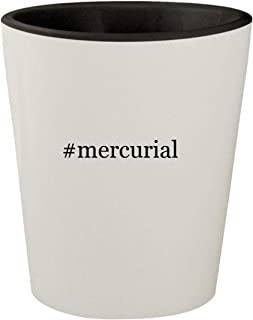 #mercurial - White Outer & Black Inner Hashtag Ceramic 1.5oz Shot Glass