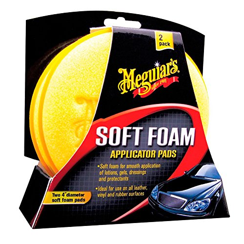 Meguiar's X3070 Meguiars Soft Foam Pads-Applicatore per Cera e Gel-Diametro 10.2cm, 2 Pezzi
