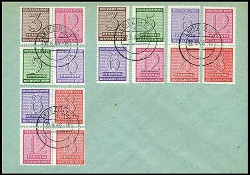 Goldhahn SBZ Zusammendrucke gestempelt WZd 13-16 + SZd 3-6 auf Brief - Briefmarken für Sammler