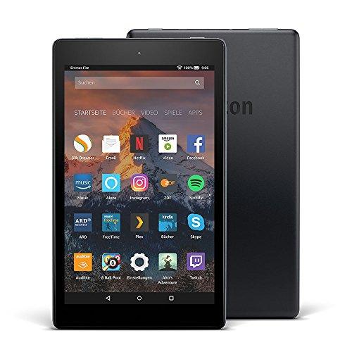Produktbild von Fire HD 8-Tablet mit Alexa, 20,3 cm (8 Zoll) HD Display, 16 GB (Schwarz), mit Spezialangeboten (vorherige Generation – 7.)