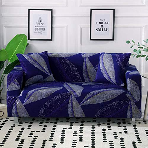 WXQY Funda de sofá elástica geométrica para Sala de Estar Funda de sofá de Esquina Moderna Funda Protectora antiincrustante para Silla de sofá A18 2 plazas