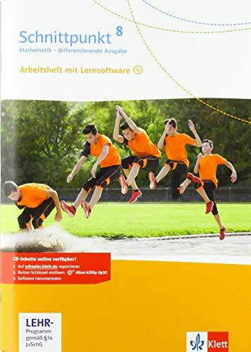Schnittpunkt Mathematik 8. Differenzierende Ausgabe: Arbeitsheft mit Lösungsheft und Lernsoftware Klasse 8 (Schnittpunkt Mathematik. Differenzierende Ausgabe ab 2017)