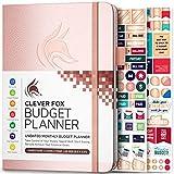 Clever Fox 予算プランナー - 経費追跡ノート 月間予算日記 財務プランナー & 会計簿 お金を管理するための日付なし - いつでも開始 A5サイズ ローズゴールド ハードカバー