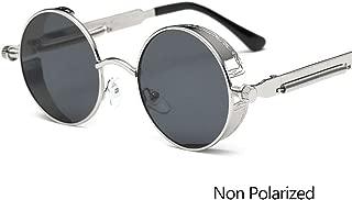 Vintage Round Polarized Sunglasses Retro Steampunk Sun Glasses For Men Women Small Metal Circle Driving Glasses UV400