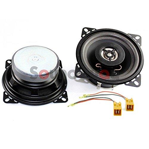 Sound-way 2-weg Luidspreker Speakers Autoradio 10 cm compatibel met Fiat 500 vijfhonderd, Fiat 600 zeshonderd