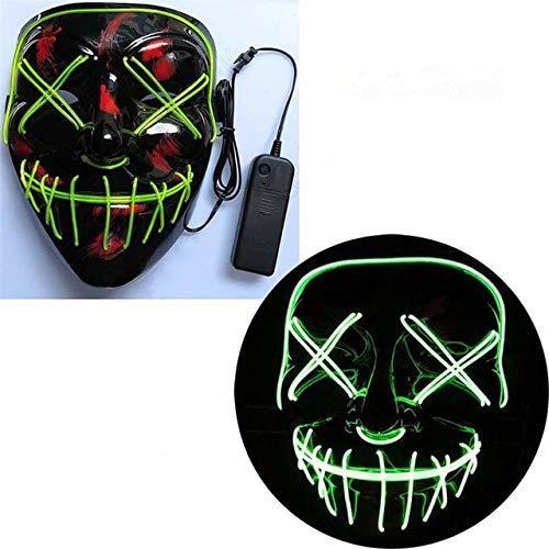 Halloween Maske LED Maske Leuchtende Party Masken Neon Maska Cosplay Wimperntusche Horror...