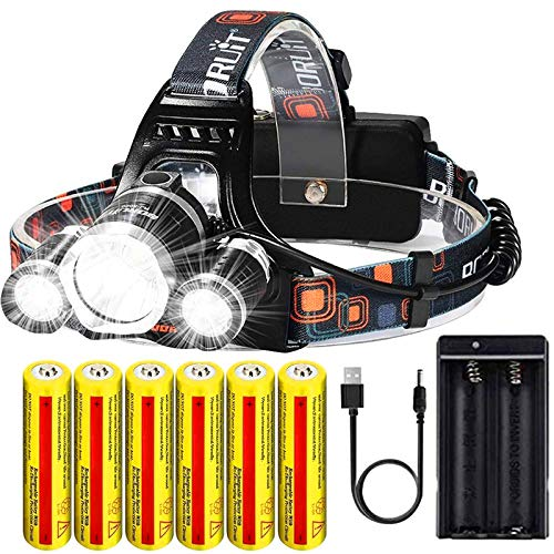Brightest Rechargeable Headlamp 20000 Lumens