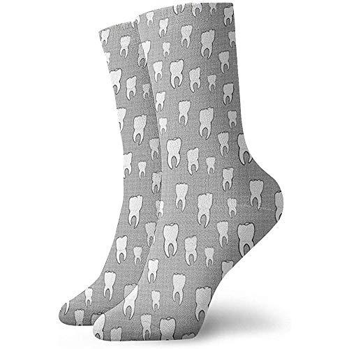 Zähne Crosshatch Unisex Soft Crew Socke All-Seasons Short Sportsocken