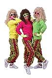 RUNSTYLE FetteParty - 80-er 90-er Jahre Erwachsenenkostüm, Deluxe Trainingsanzug Outfit Neon Hoodie...