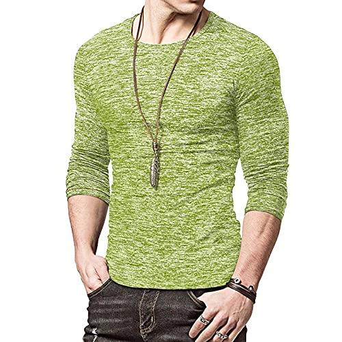 XDJSD Camisetas De Otoño E Invierno para Hombre Camisetas De Cuello Redondo para Hombre Camisetas Deportivas De Fondo Camisetas Casuales para Hombre