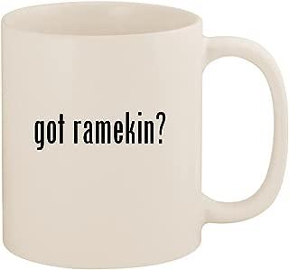 got ramekin? - 11oz Ceramic White Coffee Mug Cup, White
