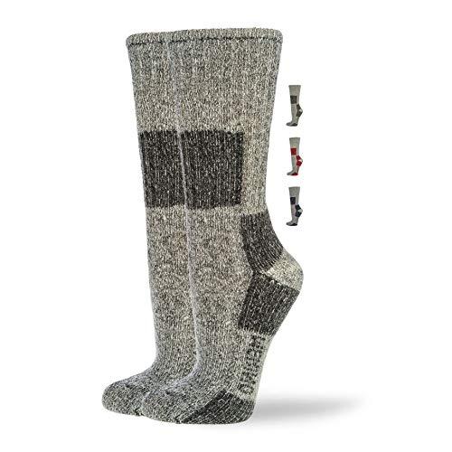 NewwerX Wandersocken mit 85% Merinowolle | Trekking Socken Damen und Herren | Trekkingsocken Atmungsaktiv und Komfortabel (Anthrazit, 39-42)