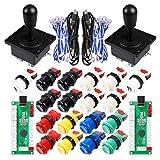 EG STARTSクラシックアーケードゲームParte Mame USBキャビネットZero Delay Encoder USB PCゲームジョイスティック18xアーケードプッシュボタンキットColori Multipli