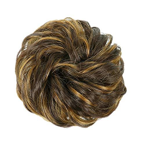 coleta postiza pelo natural extensiones de cabello natural rizado El pelo falso. Clip en extensiones de cabello de cola de caballo 4h273