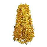 DECORA Gold Tinsel Garland for Christmas Tree Decorations Wedding Birthday Party Supplies 33 FEET