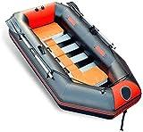 Qinmo Lourds 2-5 Personne Canot pneumatique pêche Bateau Dériveur Set Complet de la capacité portante maximale avec pagaies + Pompe (Size : 230 * 119cm)