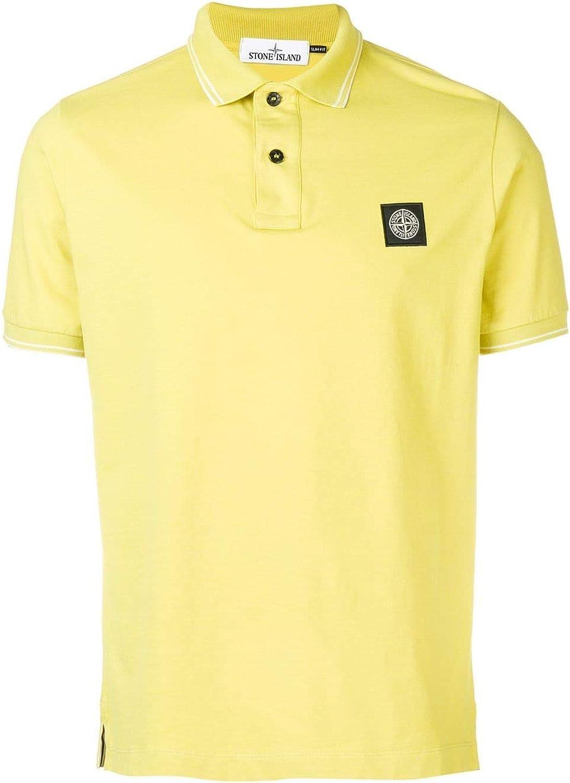 STONE ISLAND Men's 101522S18V0038 Yellow Cotton Polo Shirt