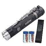 Eagletac D25LC2 Tactical 1200 Lumens Cree XM-L2 LED Flashlight, 2x CR123A Batteries and LumenTac Keychain Light