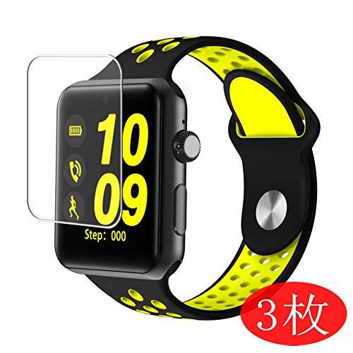 Vaxson 3 Stück Schutzfolie kompatibel mit Smartwatch Smart Watch DM09 Plus, Displayschutzfolie Bildschirmschutz Blasenfreies TPU Folie [Nicht Panzerglas]