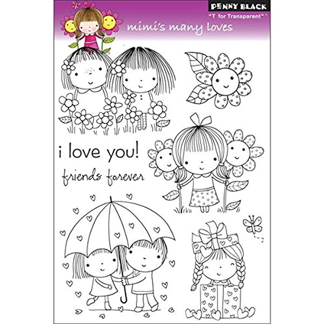 Penny Black 30-091 Clear Stamp, Mimi's Many Loves