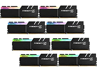 G.SKILL TridentZ RGB Series 128GB (8 x 16GB) 288-Pin DDR4 3600MHz (PC4 28800) Desktop RAM F4-3600C17Q2-128GTZR