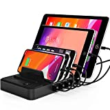 Bototek 5-Port USB Charging Station Dock & Organizer,Multiple USB Charger for Smartphones, Tablets &...