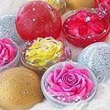 Galaxy Set mit 2 exotischen Blumen Handgeschnitzt aus Seife mit ätherischem Aromaöl und...