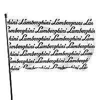 ランボルギーニテキストロゴ のぼり旗3 * 5フィートガーデンフラグバナー