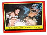 Jabba the Hutt and Slave Princess Leia trading card Star Wars Return of the Jedi 1983 Topps #45 Carrie Fisher Bikini Outfit