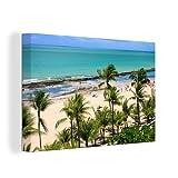 Leinwandbild - Palmen am brasilianischen Strand von Recife