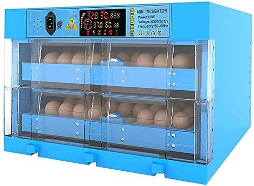 ZJWN Incubadora, Automáticos Incubatores Digitales con Giro automático de Huevos Control automático de Temperatura y Humedad, para el hogar, Laboratorio,Blue_128 Eggs