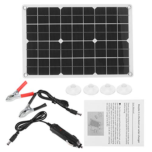 zhuolong Cargador USB Doble de celda monocristalina de Panel Solar Plegable de 50 vatios para Carga al Aire Libre de Yates de RV de Coche