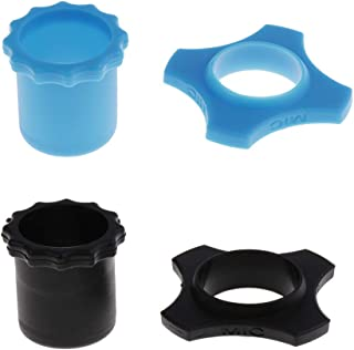 Homyl 2 Set Microphone Mic Anti-rolling Protection Rings With Bottom Blue & Black