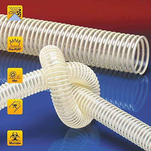 PU Absaugschlauch Spiralschlauch Flexschlauch Hart-PVC Spirale *antistatisch, abriebfest, mikrobenfes (45 mm)