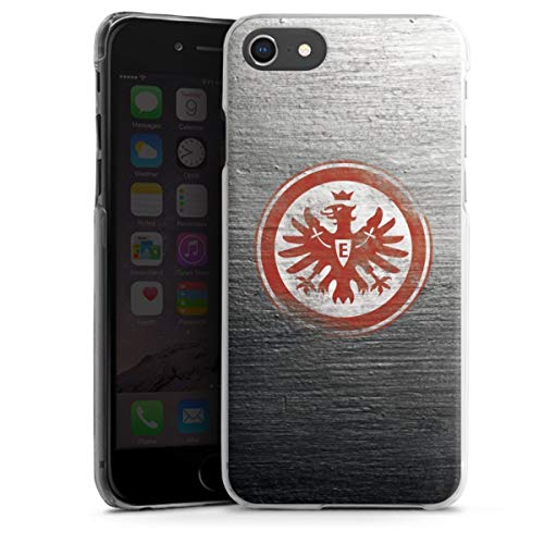 DeinDesign Hard Case kompatibel mit Apple iPhone 7 Schutzhülle transparent Smartphone Backcover Eintracht Frankfurt SGE Logo