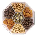 Holiday Nuts, Chocolate, Dried Fruit Gift Basket - Gourmet Food Gifts Prime Delivery