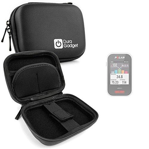 DURAGADGET Housse de Rangement Noir pour Polar V650 HR, M450 HR GPS/Compteur de vélo connecté - Mousqueton Bonus