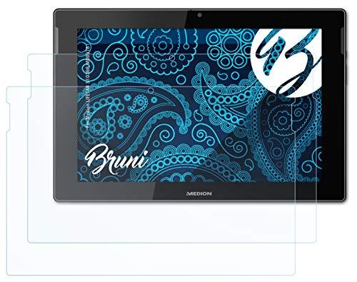 Bruni Schutzfolie kompatibel mit Medion LIFETAB S10366 MD99781 Folie, glasklare Bildschirmschutzfolie (2X)