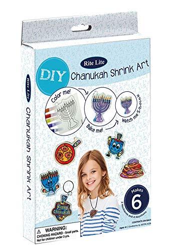 Chanukah Shrink Art - 6 Assorted Designs - Jewish Hanukkah Gift