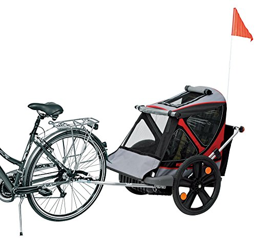 B-TAXI RED Kinderanhänger Fahrradanhänger 2 Kinder Wanne