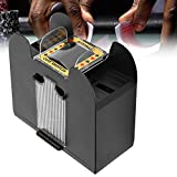Card Shuffler, Electric Automatic Poker Machine Can Shuffler 6 Decks of Poker, Suitable for Bedroom Living Room Traveling Outdoor Camping