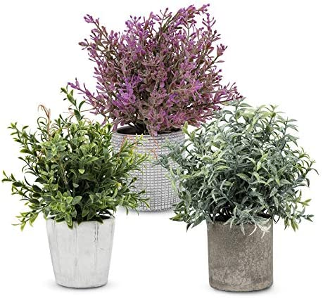 Artificial Plant 3 Pcs Mini Plants Artificial Potted Set Fake Green Seven Layer Grass Plant product image