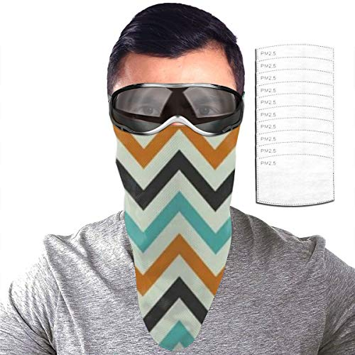 Half Bavaclava Face Mask Triangle Wind Dust Proof Masks With Filter Magic Tape Strap Full Ears Protection For Women Men Ski Motorcycle Cycling Bicycle -Vintage Happy Halloween Geometric Stripe Stripe